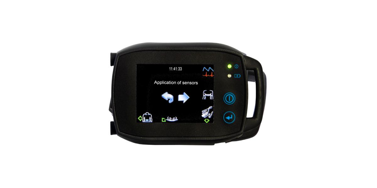 SOMNOtouch™ RESP zur Polygraphie, Kardiorespiratorisches Screening mit Intelligent Connect Darstellung auf dem Touchscreen