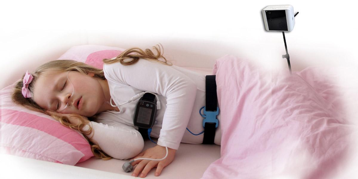 SOMNOtouch RESP Polysomnographie, PSG mit Video, Home Sleep Kamera, ambulant, höchster Patientenkomfort, AASM Headbox