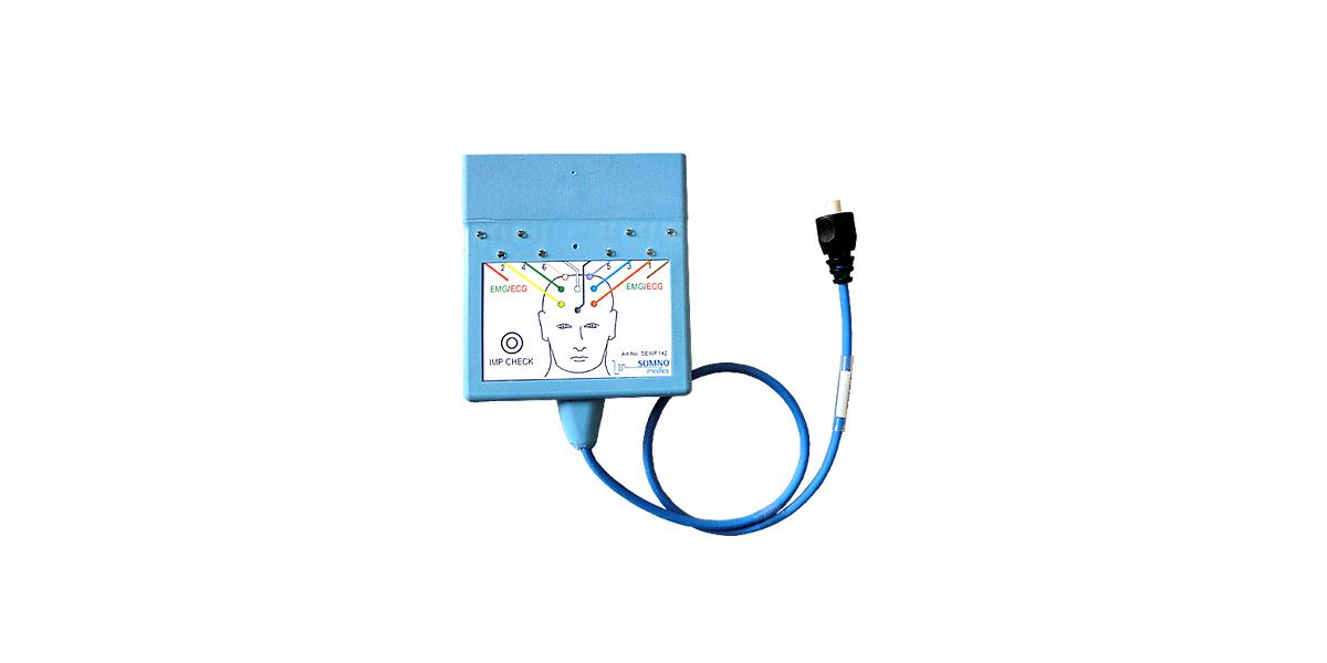 6-Kanal-Headbox der SOMNOwatch™ plus für mobiles Langzeit EEG oder Schlafstadienbestimmung