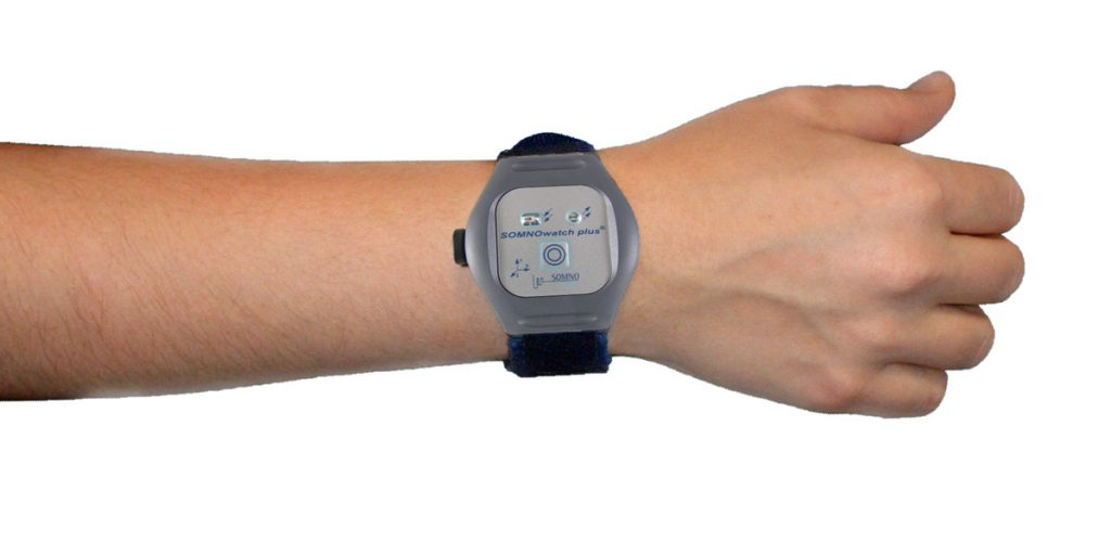 A SOMNOwatch actigraphy can be worn on the wrist.