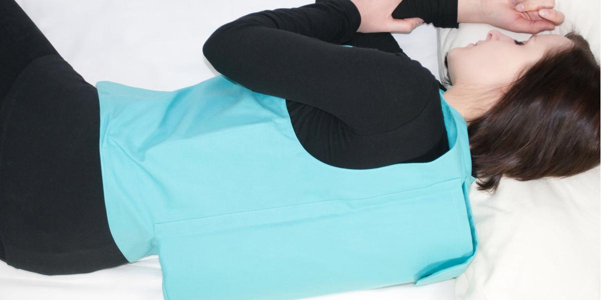 RLV-Weste an schlafender Patientin