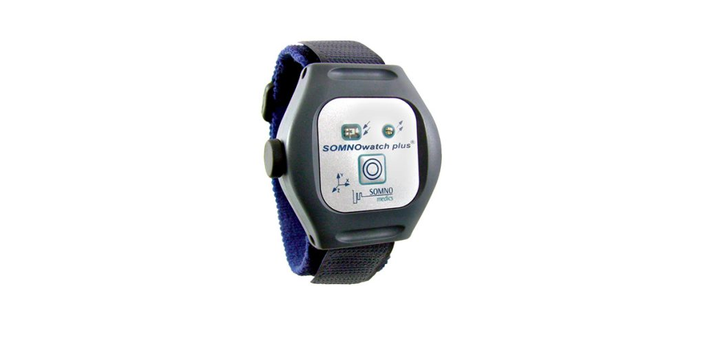 The SOMNOwatch Plus wearable actigraph.