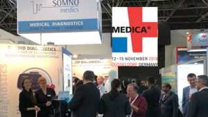 SOMNOmedics at MEDICA 2018- So many people at the SOMNOmedics stand this year 2018. showcasing our newest sleep diagnostic products like SOMNO HD eco, SOMNOtouch RESP eco and ABPM pro. Why not visit us.