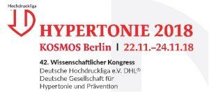 42. Wissenschaftlicher Kongress Deutsche Hochdruckliga e.V. DHL® Deutsche Gesellschaft für Hypertonie und Prävention 22.11.-24.11.2018 • Berlin