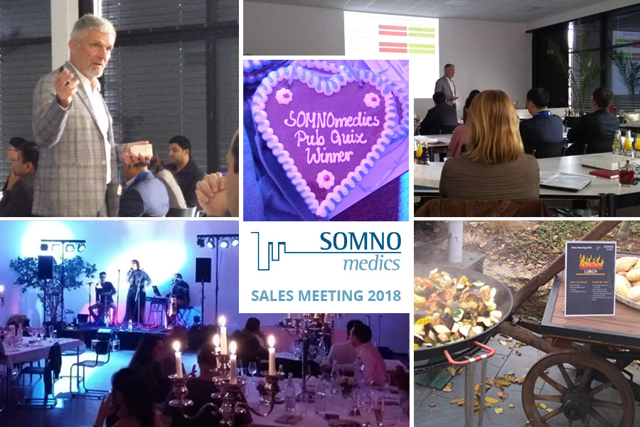 Various photos from the recent SOMNOmedics 2018 International sales meeting