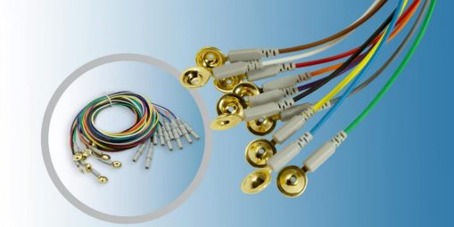 Gold cup electrodes accessories and consumables for diagnostics