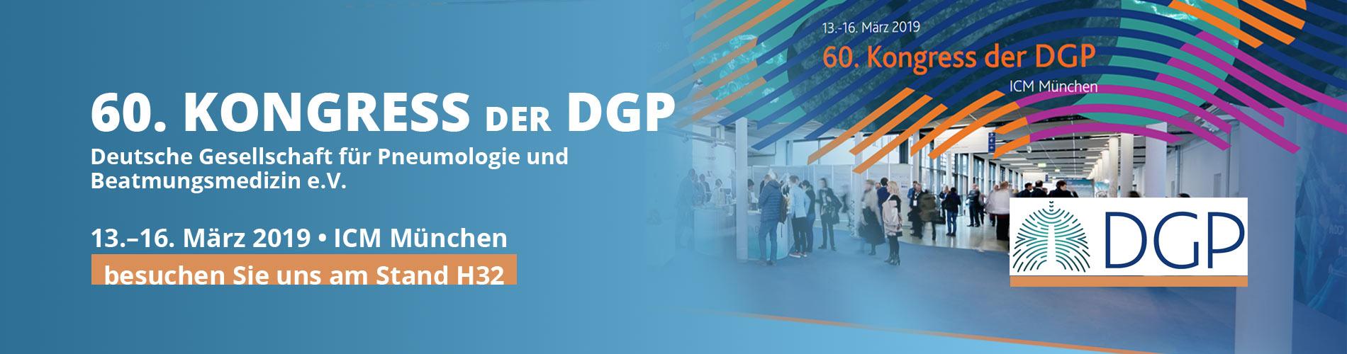 Besuchen Sie uns am Stand H32. 60. Kongress der DGP 13-16 März 2019 - ICM München