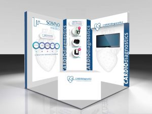 ESH 2019 SOMNOmedics - A render of what SOMNOmedics congress stand may look like.
