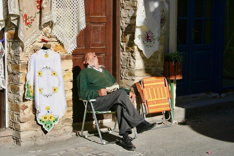 Man sleeping in cyprus