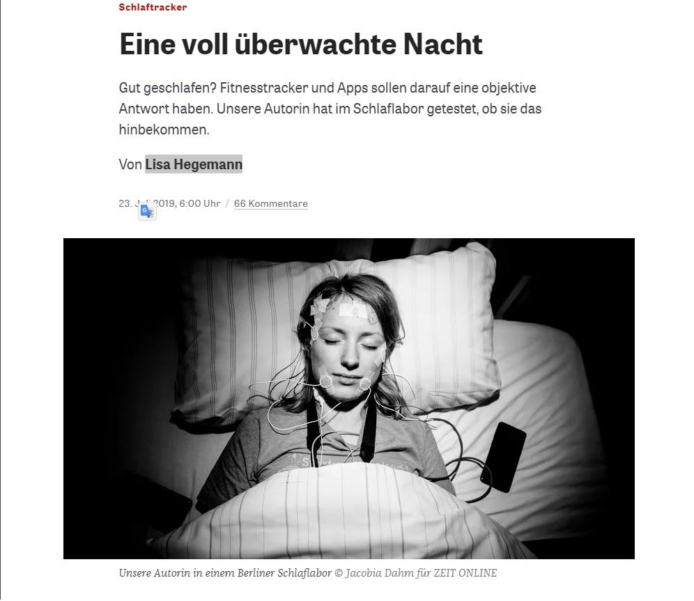 Schlaftracker getestet - Bilder von Jacobia Dahm für Zeitonline