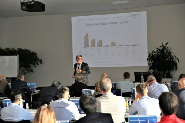 dr Küchler presents at SOMNOmedics 19th International Sales meeting