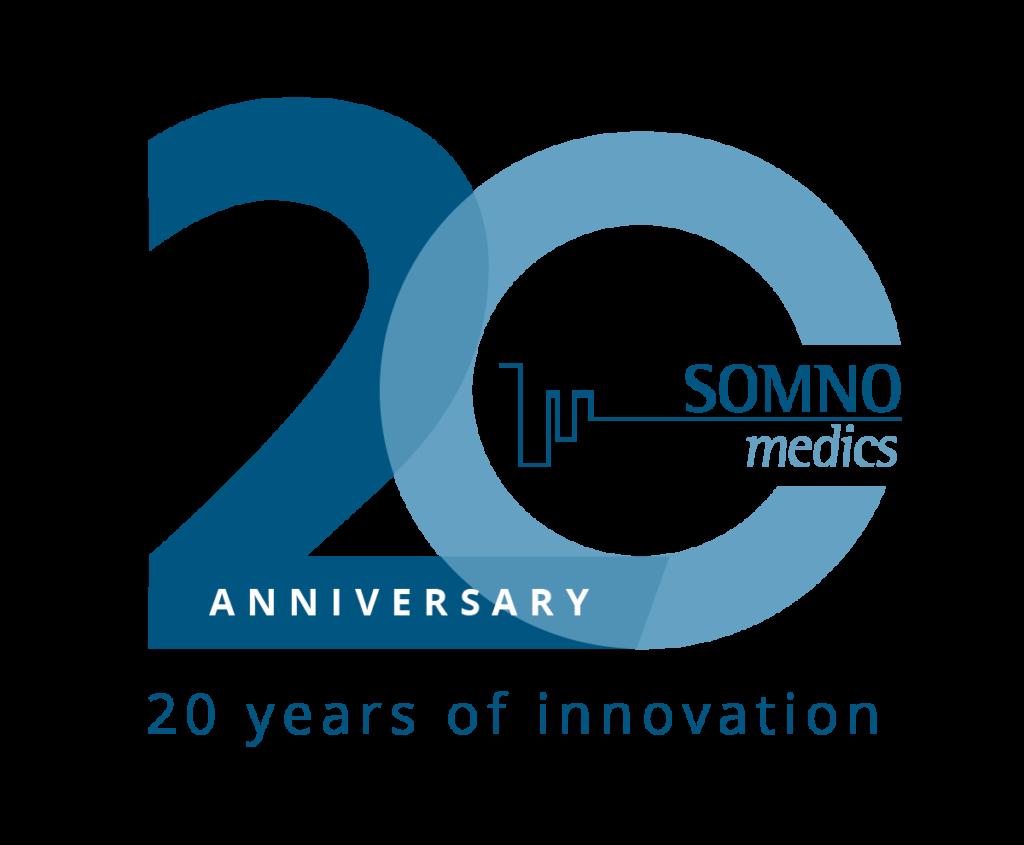 SOMNOmedics 20 years anniversary logo