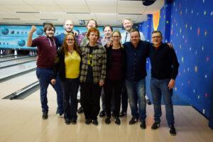 Team SOMNOmedics spielt bowling