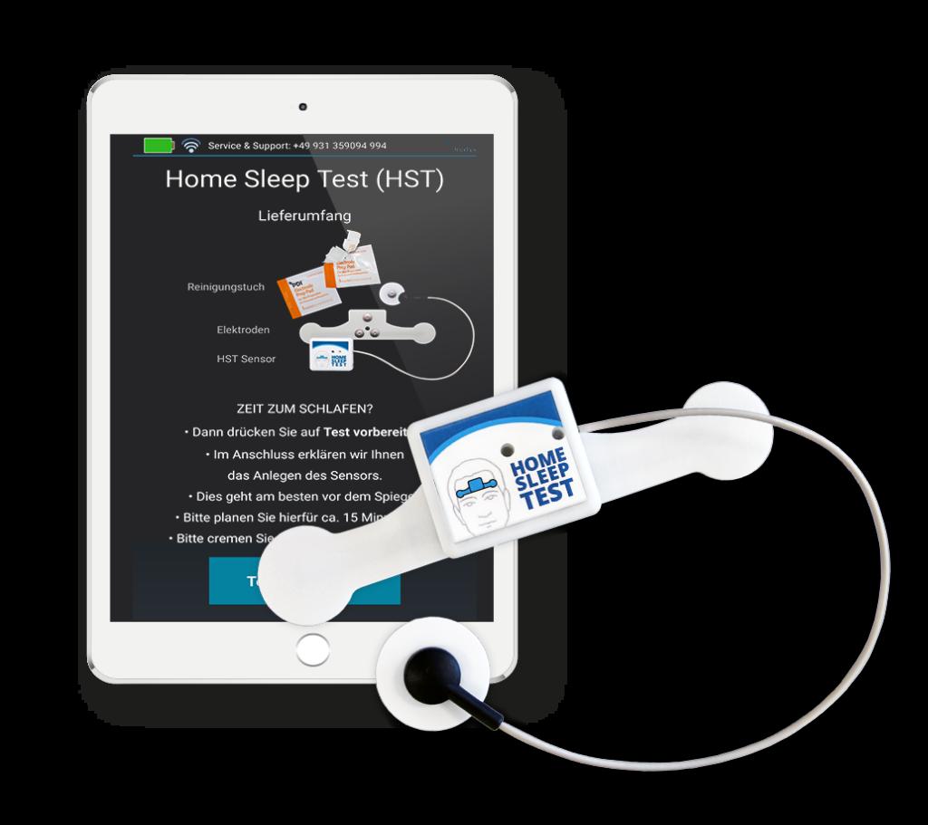 tablet mit Home Sleep Test